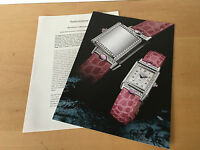 Used IN Shop - Press Kit Reverso Cabochons Jaeger-Lecoultre - Bale 2000 - Usato