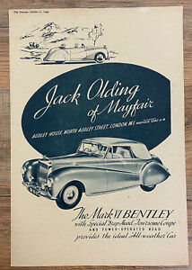 The Autocar 1949 Mark VI Bentley All-Weather Car Advertisement Ad Jack Olding