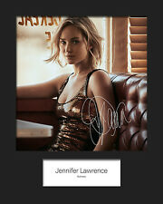 JENNIFER LAWRENCE #1 Signed Photo Print 10x8 Mounted Photo RePrint - FREE DEL