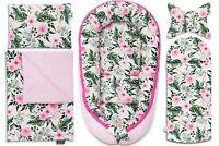 Sleepyhead Baby Nest Set 5 Elements Set Pink Blossom Pillow Blanket Baby Nest