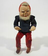 Antique Dwarf Gnome Bending Doll Rag Doll Artist Doll by 1950 or older