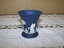 Vintage Wedgewood Dark Blue Cigarette Cup-Jasperware with White Figures all Arou