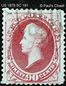 US 1879 SC 191 90¢ PERRY CARMINE UNG SOFT POUROUS PAPER HS CNX FINE/VERY FINE
