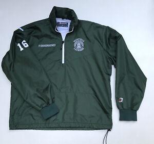 Vintage Deerfield Lacrosse Academy Windbreaker Jacket Men's L Made In USA
