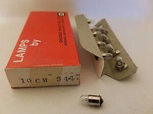 Boite De 10 Chicago Miniature 344 CM344 GE344 Midget Lampes Ampoules 10V .015A