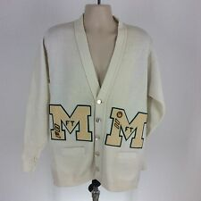 Vintage East-Tenn size 42 acrylic off white cardigan mens Official Award Sweater
