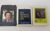 1970s 8 Track Tapes Set of 3 Paul Anka, Neil Sedaka Engelbert Humperdinck Hits