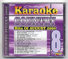 CHARTBUSTER KARAOKE CB-60354 COUNTRY HITS AUG 2006, NEW PRODISC SERIES CD+G, OOP