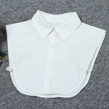 Women False Collar Detachable Neckline Choker Fake Collar Bib Half Shirt White