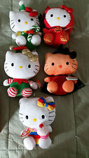 Hello Kitty TY Beanie Baby Set of 5. Original tags.