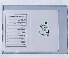 Augusta National Golf Club Course Scorecards UNSIGNED MASTERS Golf Card