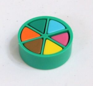 Trivial Pursuit Board Game Replacement Part GREEN MOVER 6 Wedge Pieces Pie Token