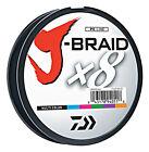DAIWA J-BRAID X8 FISHING LINE 330 YARDS (300 M) MULTI-COLOR select lb tests