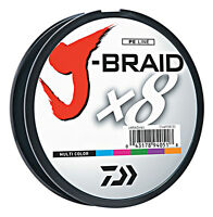 Daiwa J-Braid X8 Braided Fishing Line - 165 Yards (150 M) Multi-Color Line