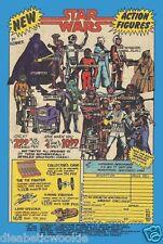 Star Wars VIntage Kenner Action Figures Darth Luke Leia art print movie poster