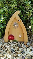 Hand Made Fairy door Hobbit/Elf Doors for garden light wood Dancing fairy door