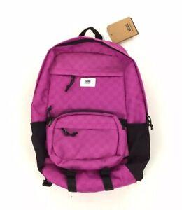 NEW Vans 3 in 1 Modular Transplant Backpack Bag Laptop Checkerboard Rosebud Pink