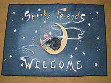 Spooky Friends Welcome Halloween Tapestry Accent Rug