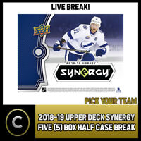 2018-19 UPPER DECK SYNERGY 5 BOX (HALF CASE) BREAK #H281 - PICK YOUR TEAM -