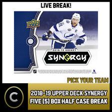 2018-19 UPPER DECK SYNERGY 5 коробка (половина чехол) перерыв #H930 — выбирайте свою команду -