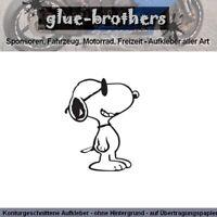 SNOOPY V3 Auto Aufkleber Farbauswahl Peanuts Charlie Brown Sticker Hund Dog
