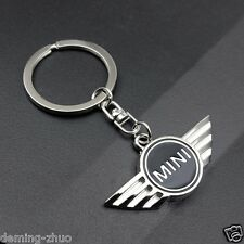 Car logo Key Chain Metal, Single Side,Black,Keychain Key Ring For Mini Cooper
