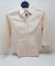 Camicia da donna Burberry rosa slim conformata usata taglia S Slim elegante