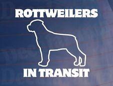 Rottweilers en tránsito Vinilo car/van/window / parachoques calcomanía / etiqueta adhesiva para los propietarios de perros