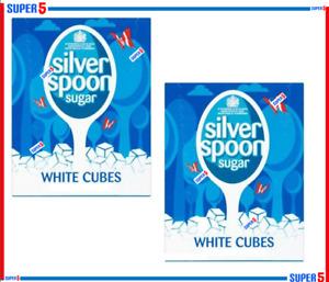 2 x Silver Spoon White Sugar Cubes 500g pack