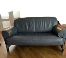 de Sede Zweisitzer Leder Sofa Anthrazit Grau Braun Couch klein 140 x 73 x 78 LBH