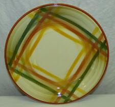 "Vtg Vernonware Homespun Lg Round 12"" Platter Serving Chop Under Plate Metlox USA"