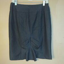 Sharagano Studio Womens Size 4 Gray Ruffled Pencil Skirt