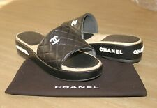 NEW! Authentic Chanel Leather Sandals Size 38