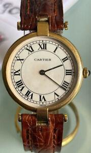 Cartier Vendome Lady full set ref.881001 in oro giallo 18kt cassa 30mm, Perfetto