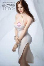 "Cjg-W006 1/6 Female Sexy Sling Dress Skirt Clothes Model White for 12"" Figure"