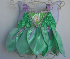 BUILD A BEAR Tinker Bell Outfit with BAB Hanger and Wings Silver Trim Disney