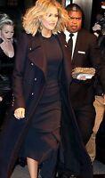 ZARA noir style militaire Manteau avec doré boutons, long, extra Petit XS veste