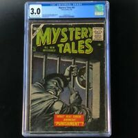 MYSTERY TALES #43 (Atlas 1956) 💥 CGC 3.0 OW-W 💥 Rare Bill Everett Cover!