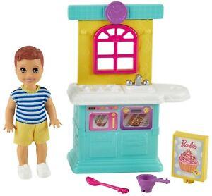 Barbie Skipper Babysitters Inc Toddler Boy Doll and Kitchen GRP16