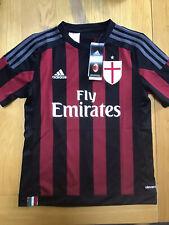 Kids Ac Milan Football Tops Age 11-12 Years