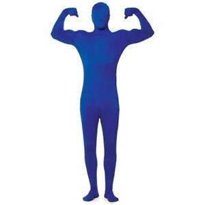 Costume Morph Blue Man Halloween Costume Bodysuit Adult Mens XL Gaviscon Guy