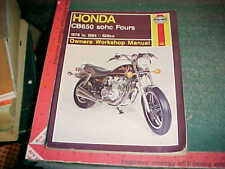 1978 thru 1984 HONDA CB650 sohc FOURS HAYNES MOTORCYCLE SERVICE MANUAL vg