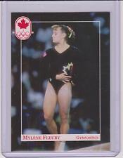 RARE 1992 CANADA SUMMER OLYMPIC MYLENE FLEURY GYMNASTICS ROOKIE CARD #24