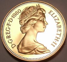 Proof Great Britain 1980 Penny~Crowned Portocullis~143,000 Minted~Free Shipping