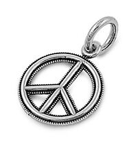 Peace Sign Pendant .925 Sterling Silver Charm
