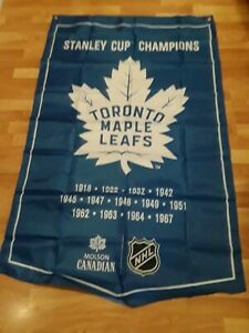 """Molson Toronto Maple Leafs Stanley Cup Champions One sided Banner Flag 36x54 """""""