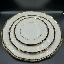 Wedgwood Windsor Black Bone China Set of 3 Plates Made in England