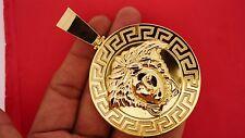 Mens 150 Grams 10k Solid Gold 4 Inch Huge Celebrity Custom Pendant Charm