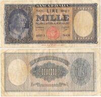 1961 Italia Banconota Lire 1000 Busto Italia DM 25-09-61 NC Circolata Vedi Foto