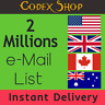 2 Million 🎏 USA + UK + CA + AU 💌✔️ Consumer Email List Sales database 💌✔️
